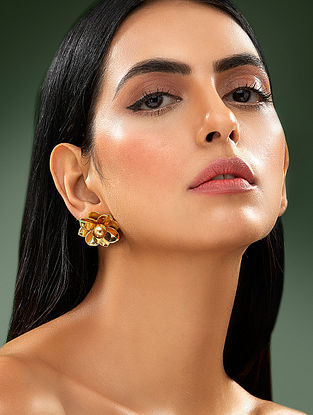 SHIVAN & NARRESH-Edomer Lilly Q Earrings Made with Swarovski Crystals