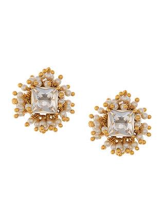 Ashima Leena Heera Noori Nazkat Studs With Swarovski Crystals & Pearls