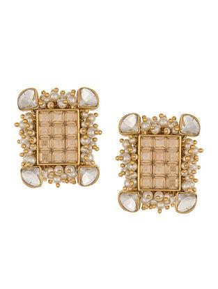 Ashima Leena Heera Noori NoorJahan Studs With Swarovski Crystals & Pearls