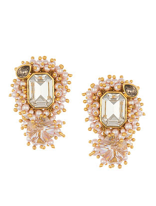 Ashima Leena Heera Noori Meera Earrings With Swarovski Crystals & Pearls