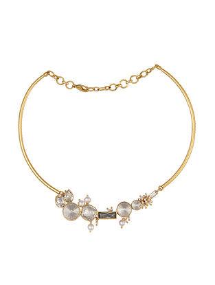 Ashima Leena Heera Noori Malika Necklace With Swarovski Crystals & Pearls