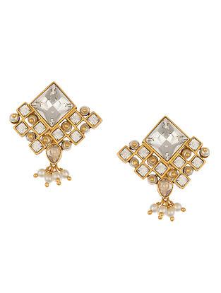 Ashima Leena Heera Noori Niyamat Studs With Swarovski Crystals & Pearls