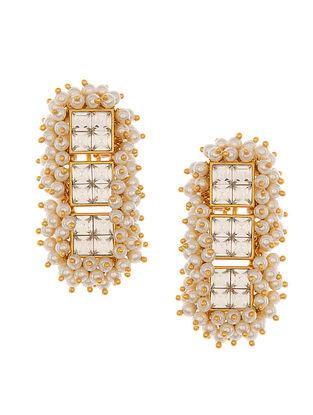 Ashima Leena Heera Noori Umrao Earrings With Swarovski Crystals & Pearls