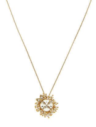 Ashima Leena Heera Noori Nusrat Pendant With Swarovski Crystals & Pearls