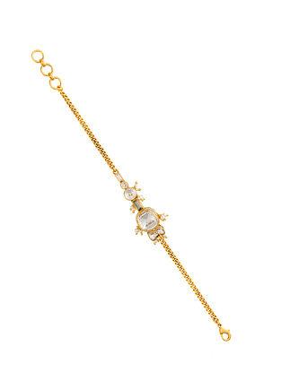 Ashima Leena Heera Noori Saira Bracelet With Swarovski Crystals & Pearls