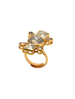 Ashima Leena Heera Noori Ruhani Ring With Swarovski Crystals
