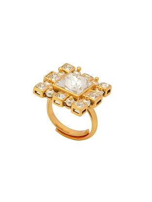 Ashima Leena Heera Noori Inayat Ring With Swarovski Crystals