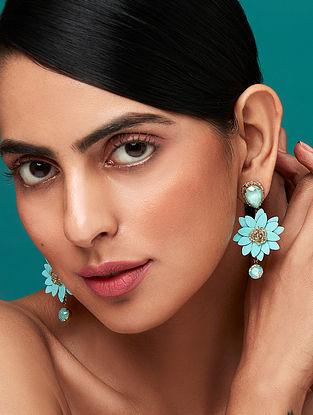 Deepa Gurnani Tamana Earrings Made with Swarovski Crystals