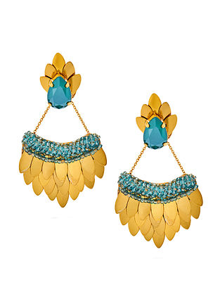 Deepa Gurnani Jayna Earrings Made with Swarovski Crystals