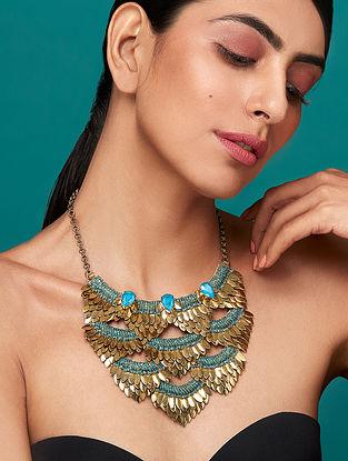 Deepa Gurnani Sona Necklace Made with Swarovski Crystals