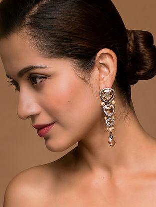 Tarun Tahiliani- Luminescent Graded Stones Earrings Made with Swarovski Crystals & pearls