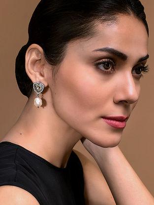 Tarun Tahiliani- Luminescent Pearl Drop Studs Made with Swarovski Crystals & pearls