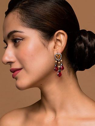 Tarun Tahiliani- Luminescent Drops Studs Made with Swarovski Crystals & pearls