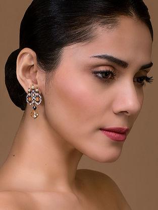 Tarun Tahiliani- Luminescent Deco Studs Made with Swarovski Crystals & pearls