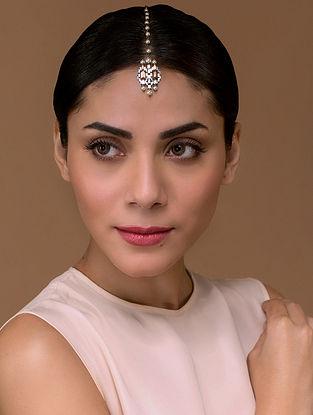 Tarun Tahiliani- Luminescent Deco Maangtikka Made with Swarovski Crystals & pearls