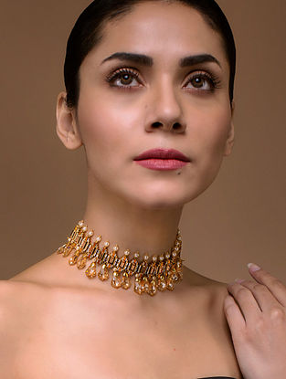 Tarun Tahiliani- Luminescent Deco Choker Made with Swarovski Crystals & pearls
