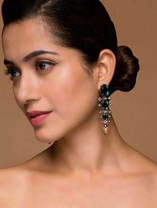 Tarun Tahiliani- Luminescent Cascade Earrings Made with Swarovski Crystals & pearls