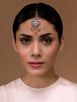 Tarun Tahiliani- Luminescent Drops Maangtikka Made with Swarovski Crystals & pearls