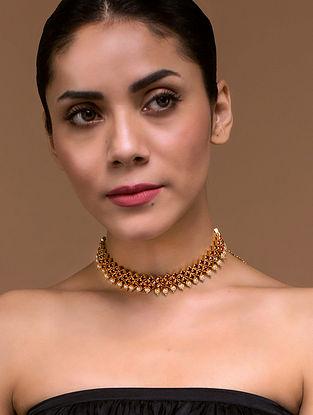 Tarun Tahiliani- Luminescent Tasselated Choker Made with Swarovski Crystals & pearls