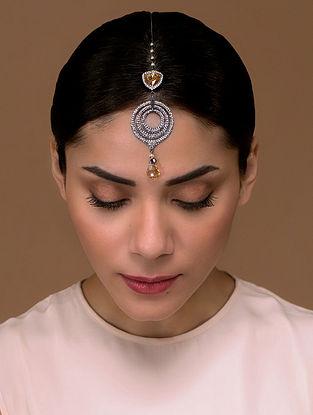 Tarun Tahiliani- Luminescent Victorian Maangtikka Made with Swarovski Crystals & pearls