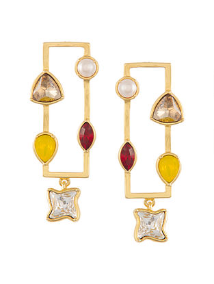 ZARIIN - Daily Dose of Glimmer Earrings Made with Swarovski Crystals