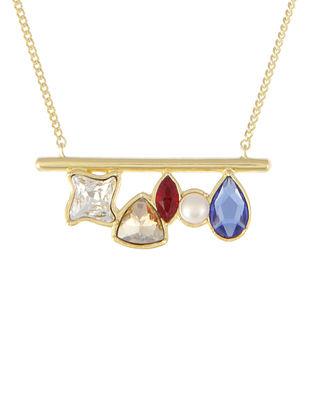 ZARIIN - Skinny Love Bar Necklace Made with Swarovski Crystals
