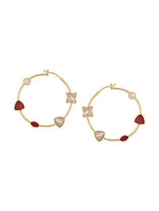 ZARIIN - Take Five Hoop Earrings Made with Swarovski Crystals