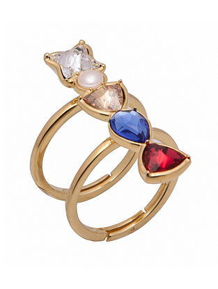 ZARIIN - Colour Coded Ring Made with Swarovski Crystals