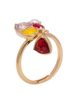 ZARIIN - Love on the Rocks Ring Made with Swarovski Crystals