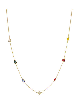 ZARIIN - Binge on Bling Necklace Made with Swarovski Crystals