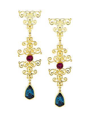 EINA AHLUWALIA-FE Sign Hanger Earrings Made with Swarovski Crystals