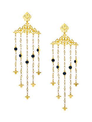 EINA AHLUWALIA-FE Vine Earrings Made with Swarovski Crystals & pearls