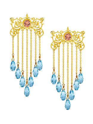 EINA AHLUWALIA-FE Awning Earrings Made with Swarovski Crystals