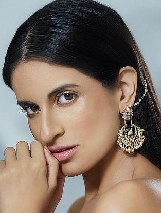 Confluence Crystals from Swarovski Suneet Varma Navratna Chaand Baali
