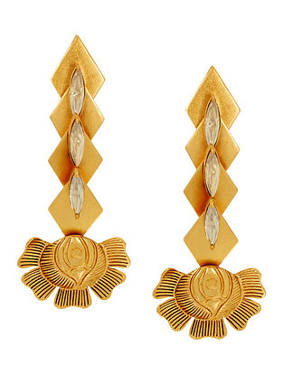 Confluence Crystals from Swarovski Suhani Pittie Tribal Marquee Floral Earrings