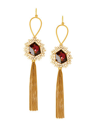 Confluence Crystals from Swarovski Suhani Pittie Unsung Tribal Tassels Earrings