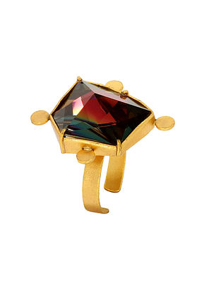 Confluence Crystals from Swarovski Suhani Pittie Tribe Illusion Adjustable Ring