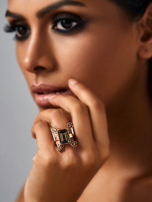 Confluence Crystals from Swarovski Suhani Pittie Unsung Tribe Adjustable Ring