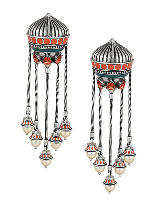 Confluence Crystals from Swarovski Amrapali Mughal Garden Dangling Earring