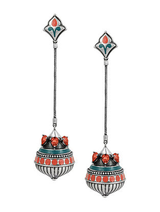 AMRAPALI-Mughal Garden Drop Dome Earrings Made with Swarovski Crystals