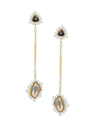Confluence Crystals from Swarovski Isharya Desert Pearl Long Earrings