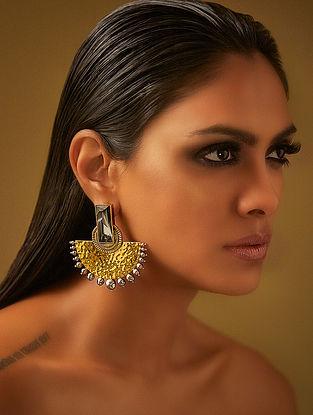Confluence Crystals from Swarovski JJ Valaya Ranas Warrior Princess Half Moon Earrings