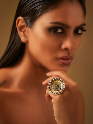 Confluence Crystals from Swarovski JJ Valaya Ranas of Kutch Disc Ring