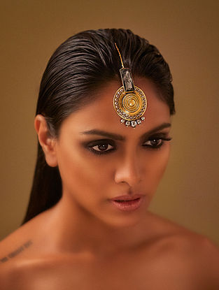 Confluence Crystals from Swarovski JJ Valaya Ranas Warrior Princess Maang Tikka