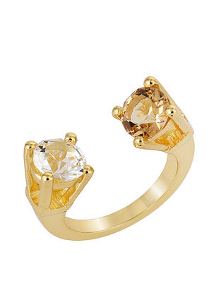 Confluence Crystals from Swarovski Isharya Single Crossover Ring