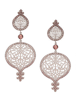 Confluence Crystals from Swarovski Eina Ahluwalia Persian Jall Outline Pink Earrings