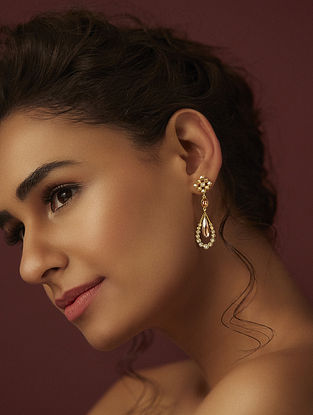 SUNEET VARMA- Enchanted Forest Star Drop Earings Made with Swarovski Crystals