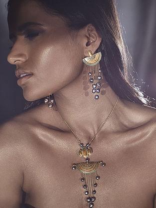 Confluence Crystals from Swarovski JJ Valaya Ranas of Kachch Moon Earrings