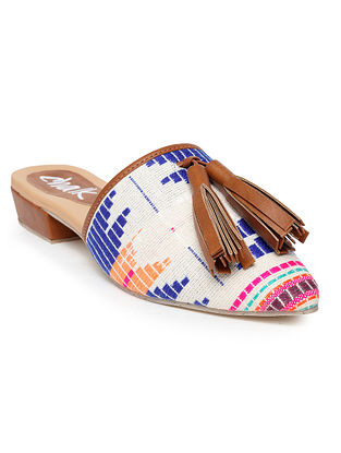 Multicolored Handcrafted Woven Mules