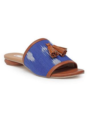 Blue Handcrafted Ikat Flats